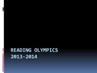 Reading Olympics 2013-2014