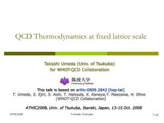 QCD Thermodynamics at fixed lattice scale