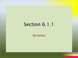 Section 6.1.1
