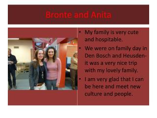 Bronte  and Anita