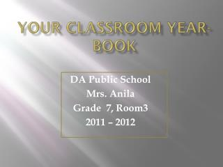 Your Classroom Year-book