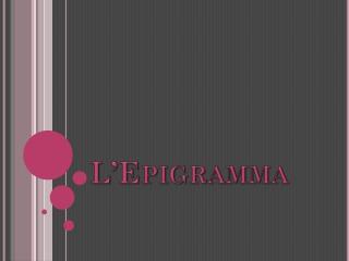 L'Epigramma