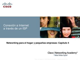 Conexión a Internet a través de un ISP