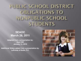 Public School District Obligations to Nonpublic School students