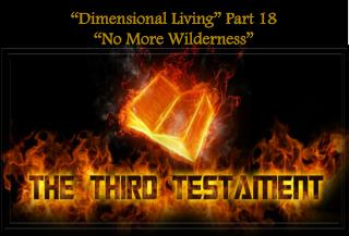 """""""Dimensional Living"""" Part 18 """"No More Wilderness"""""""