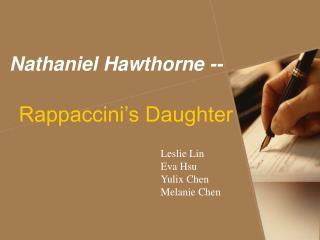 Nathaniel Hawthorne --