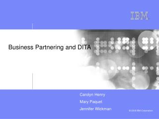 Business Partnering and DITA