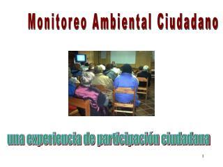Monitoreo Ambiental Ciudadano