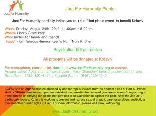Just For Humanity Picnic
