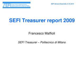SEFI Treasurer report 2009