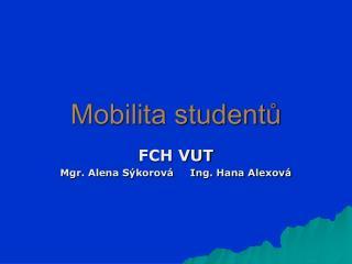 Mobilita studentů