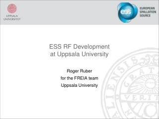 ESS RF Development at Uppsala University