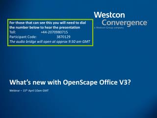 What's new with OpenScape Office V3?