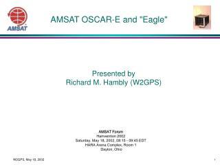 """AMSAT OSCAR-E and """"Eagle"""""""