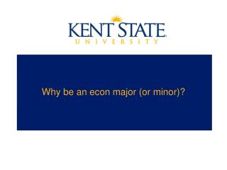 Why be an econ major (or minor)?