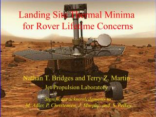 Landing Site Thermal Minima  for Rover Lifetime Concerns