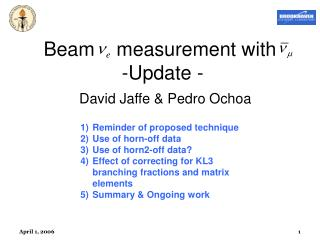 Beam    measurement with   -Update -