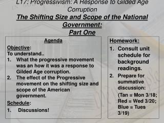L17: Progressivism: A Response to Gilded Age Corruption