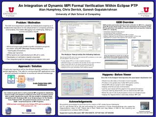 An Integration of Dynamic MPI Formal Verification Within Eclipse PTP