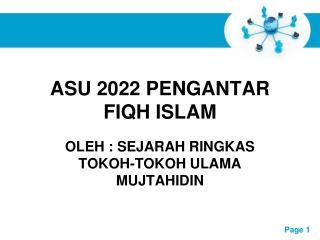 ASU 2022 PENGANTAR FIQH ISLAM