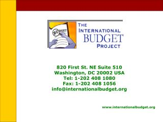 820 First St. NE Suite 510 Washington, DC 20002 USA Tel: 1-202 408 1080 Fax: 1-202 408 1056