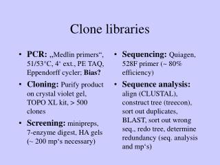 Clone libraries
