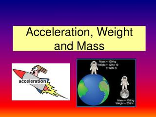 Acceleration, Weight and Mass