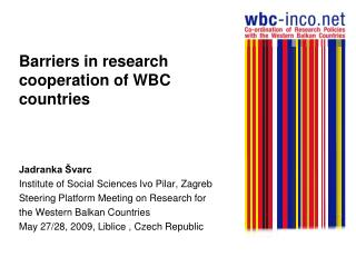 Barriers in research cooperation of WBC countries