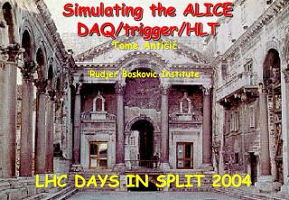 Simulating the ALICE DAQ/trigger/HLT