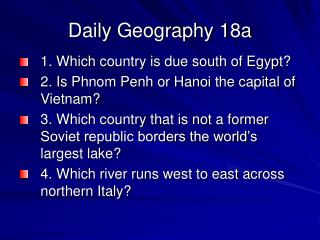 Daily Geography 18a