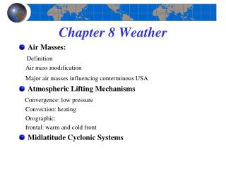 Chapter 8 Weather