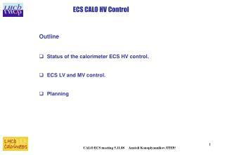 ECS CALO HV Control