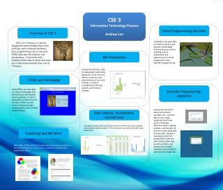CSE 3 Information Technology Fluency Andrew Lee