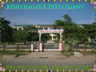 Giáo viên thực hiện: Nguyễn Thị Toàn