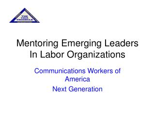 Mentoring Emerging Leaders In Labor Organizations