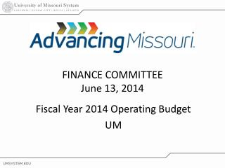 Fiscal Year 2014 Operating Budget UM