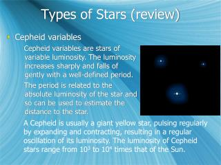 Types of Stars (review)