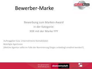 Bewerber-Marke