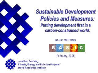 Sustainable Development Policies and Measures: