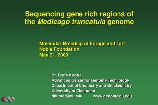 Sequencing gene rich regions of the  Medicago truncatula  genome