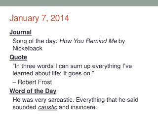 January 7, 2014