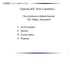 Updating IOC Time Capabilities