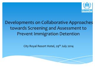City Royal Resort Hotel, 29 th  July 2014