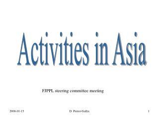 Activities in Asia