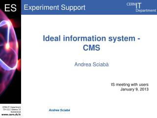 Ideal information system - CMS