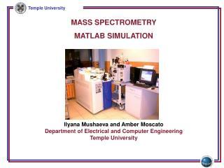 MASS SPECTROMETRY MATLAB SIMULATION
