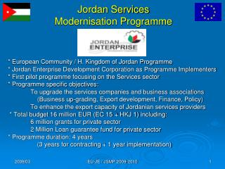 Jordan Services  Modernisation Programme