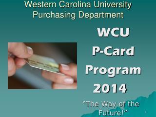 Western Carolina University Purchasing Department