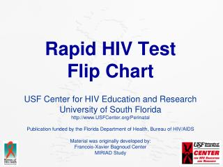 Rapid HIV Test Flip Chart