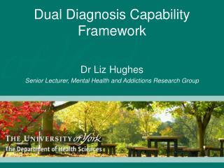 Dual Diagnosis Capability  Framework